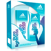 Adidas lote mujer colonia gel ducha pure lightness de 15cl.