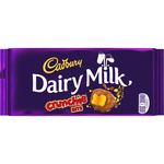 Cadbury dairy milk crunchie chocolate con leche arroz inflado crujiente tableta de 200g.