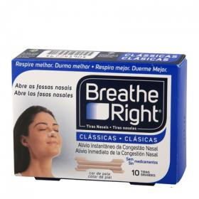 Tira nasal grande breathe right por 10 unidades