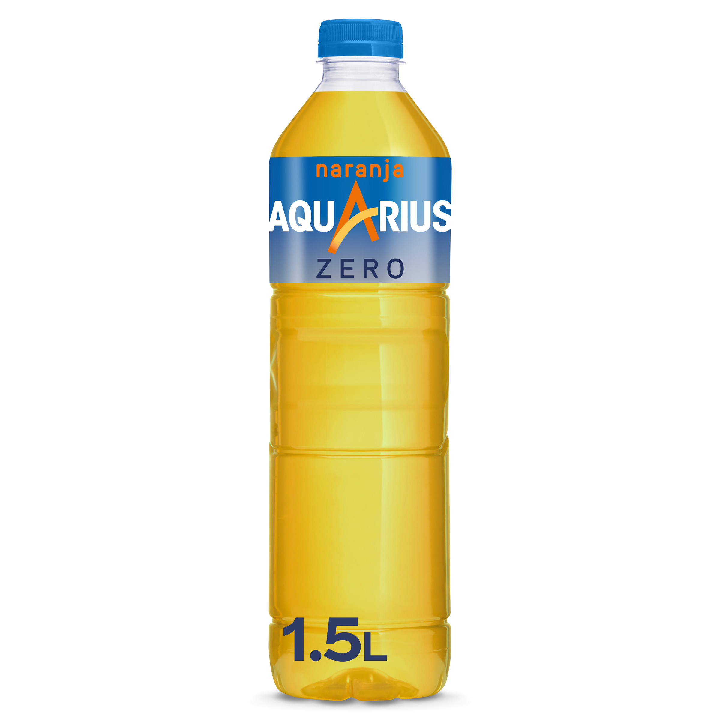 Aquarius bebida isotonica light naranja de 1,5l. en botella