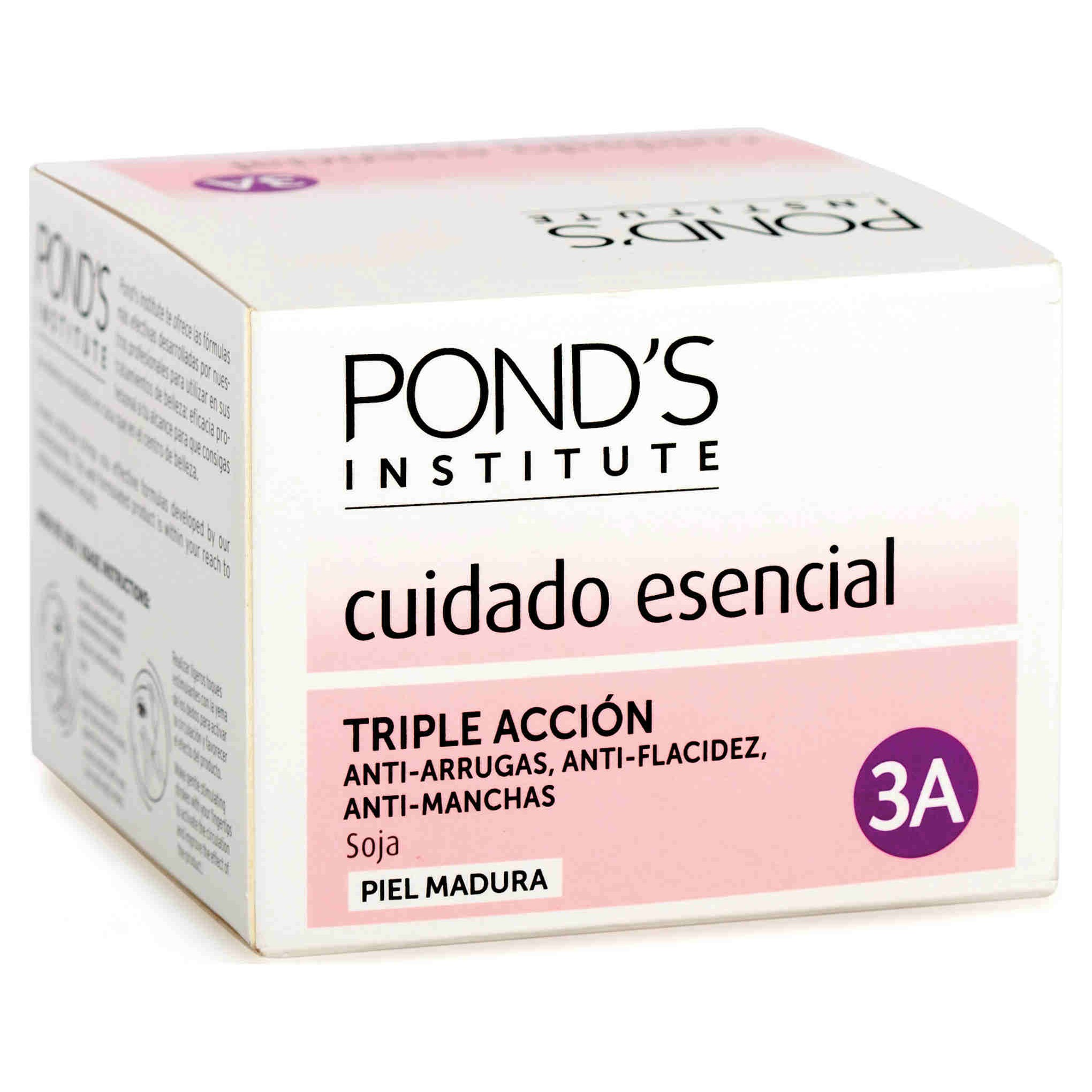 Pond's Institute crema nutritiva triple accion antiarrugas antiflacidez antimanchas piel madura precio especial de 50ml. en bote