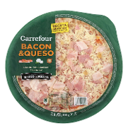 Carrefour pizza bacon queso de 400g.