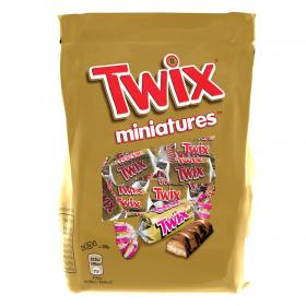 Twix mini barritas chocolate con caramelo de 130g.