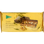 El Corte Ingles turron chocolate con galleta calidad suprema tableta de 250g.