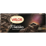 Valor chocolate negro 70% cacao de 300g.