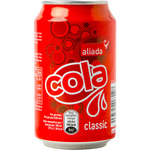 Aliada refresco cola de 33cl. en lata