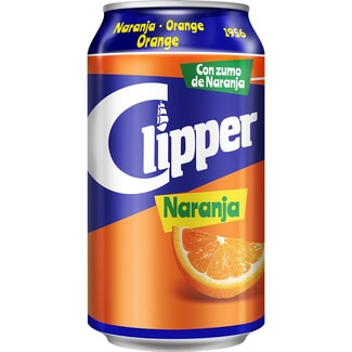 Clipper refresco naranja de 33cl. en lata