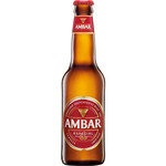 Ambar cerveza especial no retornable long neck de 33cl.