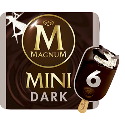 Magnum mini chocolate negro de 60ml. por 6 unidades