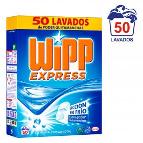 Wipp detergente en polvo coolzyme quitamanchas express 50