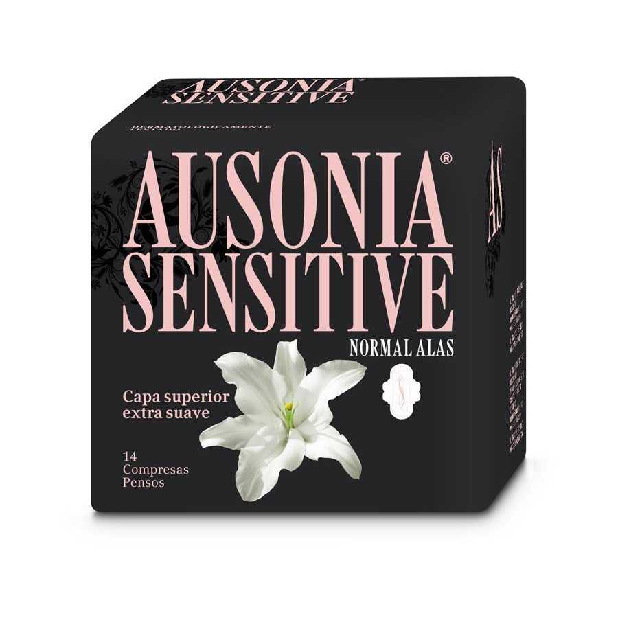 Ausonia compresa sensitive normal 14 uds alas