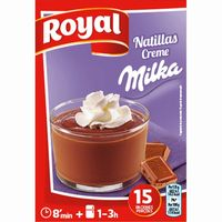 Royal natillas con milka de 150g. en caja