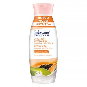 Johnson's locion corporal vita rich efecto seda con extracto papaya de 40cl.