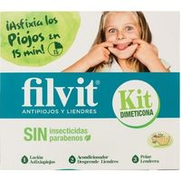 Filvit antipiojos kit dimeticona de 25cl.