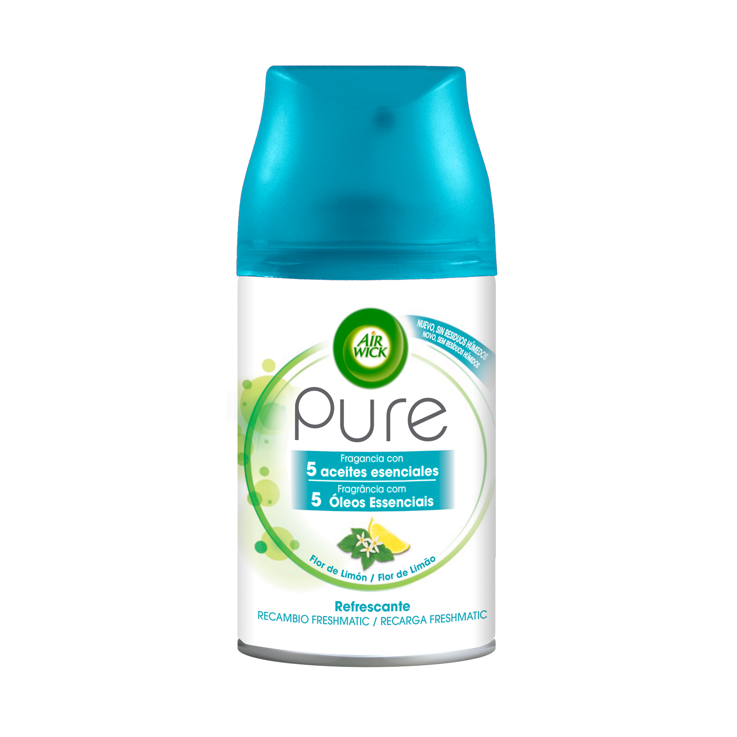 Air Wick recambio fresh matic pure refrescante flor limon de 25cl.