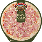 Casa Tarradellas pizza jamon queso de 405g.