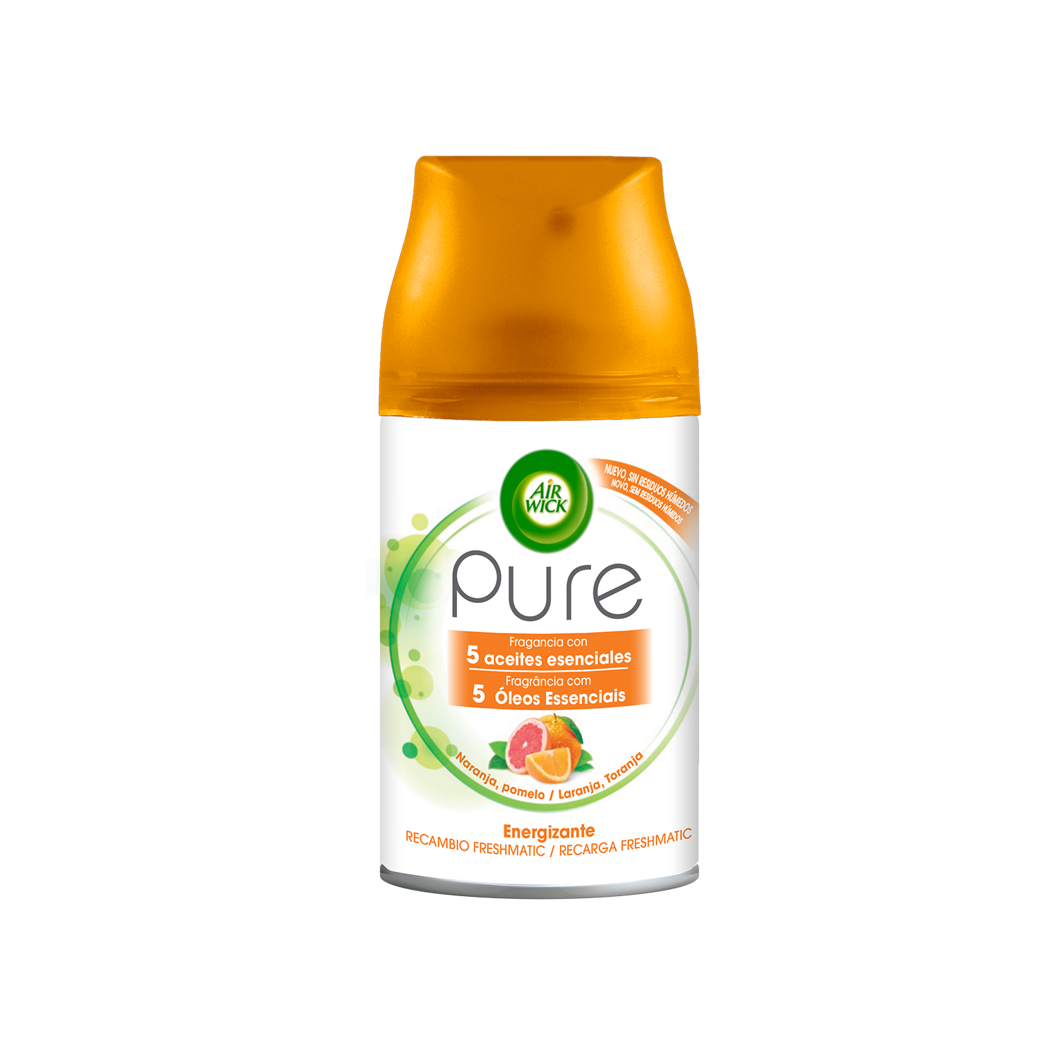 Air Wick recambio fresh matic pure relajante naranja de 25cl.