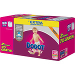 Dodot Activity pañales protection plus talla 5 extra absorcion 96 en caja