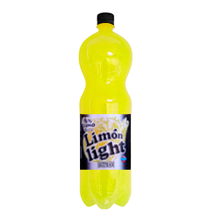 Hacendado limon con gas light de 2l. en botella