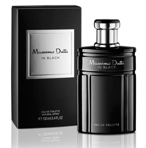 Massimo Dutti eau toilette hombre in black vaporizador de 50ml. en botella