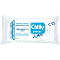 Chilly toallitas higiene intima protect 12 unidades en paquete