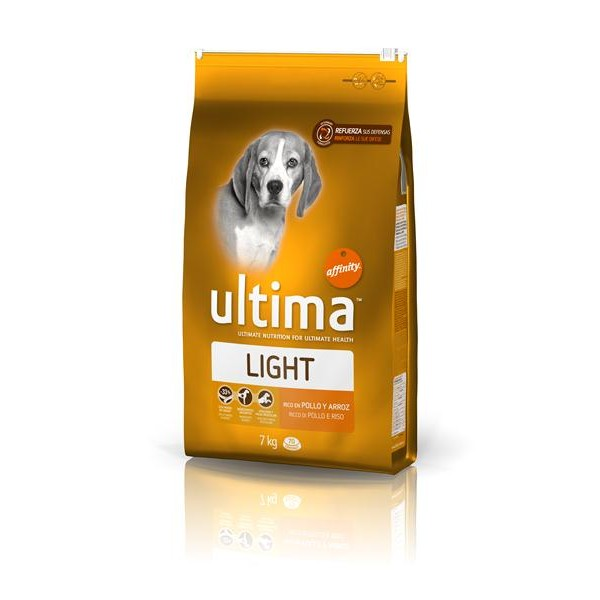 Ultima light rico en pollo arroz perro de 7kg. en bolsa
