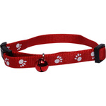 San Dimas collar nailon ajustable perro color rojo con cascabel medida 10 mm