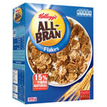 Kelloggs all bran cereales flakes de 375g.