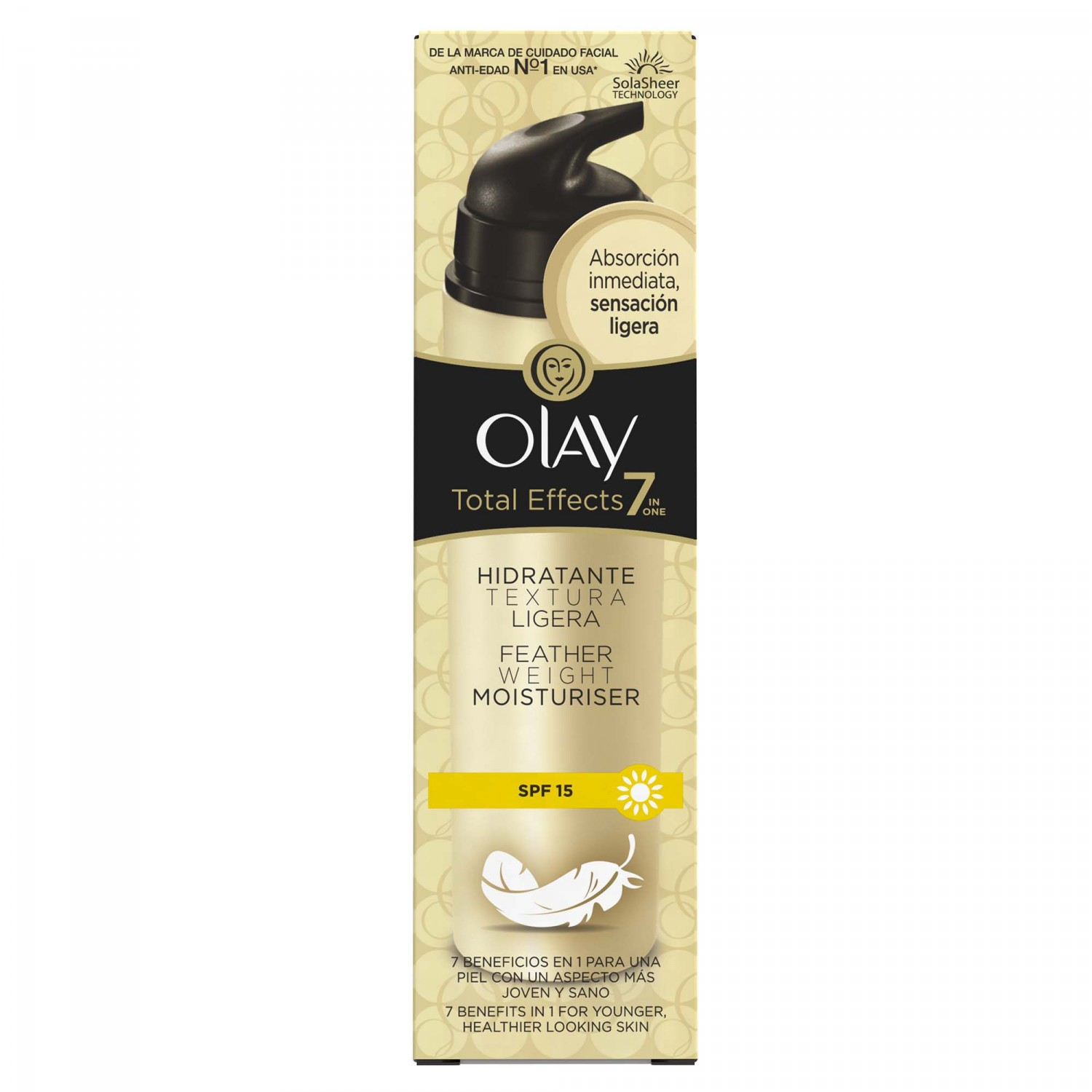 Olay crema total effects featherweight de 50ml. en bote