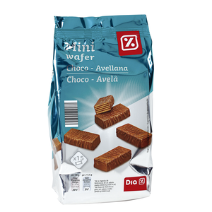 Dia mini wafer choco avellana de 200g. en bolsa