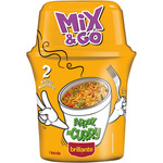 Brillante mix & go arroz al curry con verduras envase de 360g.
