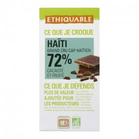 Ethiquable chocolate negro de 100g.