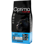 Optima nova alimento gatos adultos light con pollo arroz envase de 2kg.