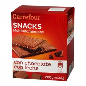 Carrefour galleta multivitaminada chocolate con leche de 210g.