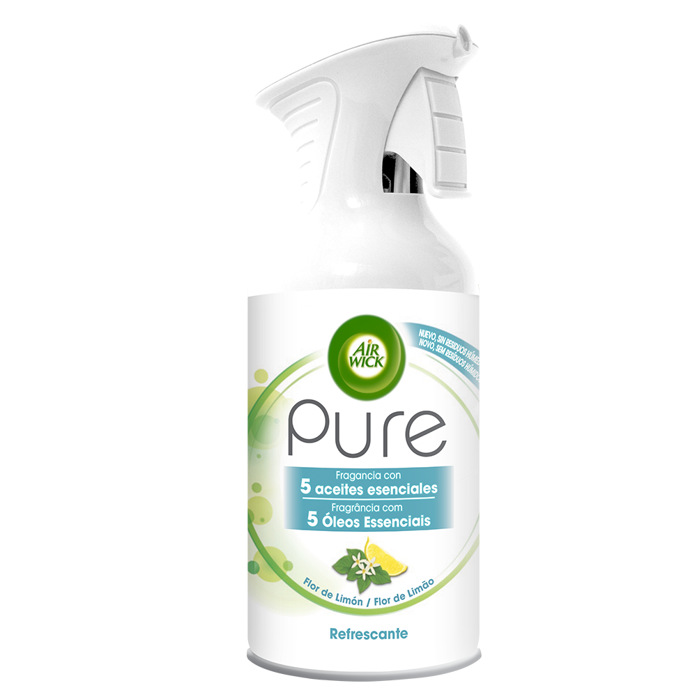 Air Wick aerosol pure essential oils refrescante flor limon de 25cl.