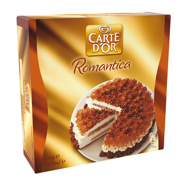 Carte D'or romantica tarta helada chocolate galleta caramelo envase de 1l.