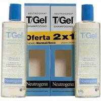 Neutrogena champu t gel cabello normal seco de 25cl. por 2 unidades