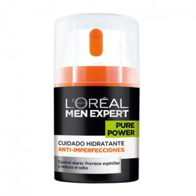 L'oréal Men Expert cuidado hidratante antiimperfecciones pure power de 15cl.