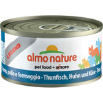 Almo Nature legend alimento gatos con atun pollo queso envase de 70g.
