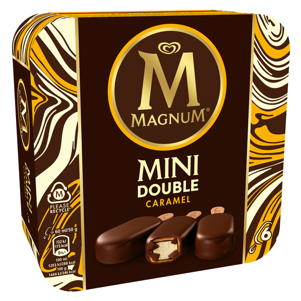 Magnum double caramelo mini 6u