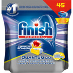 Finish detergente lavavajillas super power quantum max limon 45 en pastilla