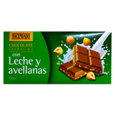 Hacendado chocolate leche avellanas tableta de 150g.
