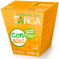 Deliplus compresa absorcion normal tanga plegada alas 12
