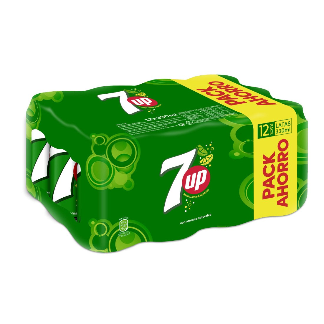 7up lima refresco lima limon de 33cl. por 12 unidades en lata
