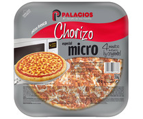 Palacios mini pizza chorizo de 225g.