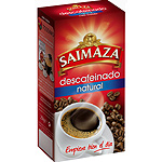 Saimaza cafe descafeinado natural molido de 250g.