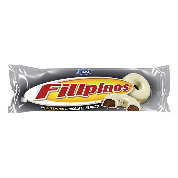 Filipinos roscos galleta con chocolate blanco de 100g. en paquete