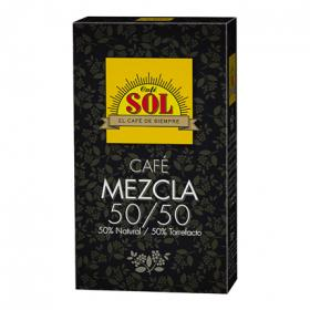 Sol cafe mezcla 50% natural 50% torrefacto cafe de 200g.