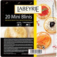 Labeyrie 20 mini blini de 168g.