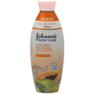 Johnson's vitarich gel ducha efecto seda papaya de 75cl. en bote